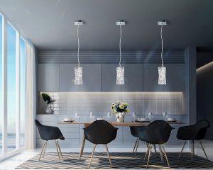 contemporary crystal chandelier Fulham