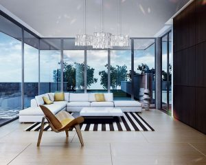 contemporary designer chandelier Fulham